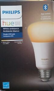 Philips Hue White LED Dimmable Smart Wireless Light Bulb/Bluetooth New Sealed!