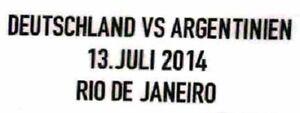 FIFA WM 2014 Brasilien Deutschland vs Argentinien Matchdetail Patch neu