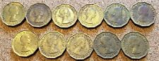 More details for set of 59 x  elizabeth ii british threepenny coins - uncleaned