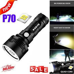 90000lm Shadowhawk Super-bright Flashlight CREE LED P70 Tactical Torch Light