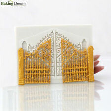 DIY 3D Fondant Cake Mold Silicone Doors and Gate Shape Mould Bakeware Tool