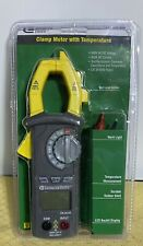 Commercial Electric Clamp Meter With Temperature 600v Acdc Voltage Data Holdnew