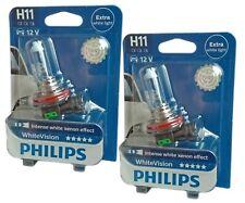 H11 PHILIPS White Vision 12362WHVB1 12V 55W Intense white Xenon Effect 2st