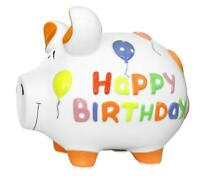 Feliz Cumpleaños Cumpleaños Hucha hucha 17 cm Motivo Money Medio cerdo