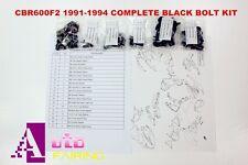 Complete Black Fairing Bolt Kit body screws for Honda CBR600F2 1991-1994