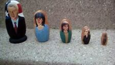 PRESIDENT BILL CLINTON MONICA LEWINSKY WOODEN NESTING DOLLS RUSSIAN MADE