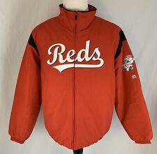 Men's Majestic Cincinnati Reds On Field Therma Base Full Zip Jacket Size XL NEW