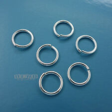 6PC Solid Sterling Silver 10mm 16 Gauge 1.3mm HD Open Jump Ring Connector #33123