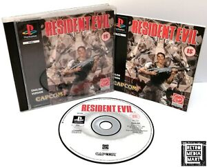 Resident Evil ~ Sony PlayStation PS1 Black Label Game ~ PAL *Excellent CIB*
