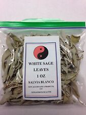 AUTHENTIC WILD CRAFTED WHITE SAGE LEAVES 1 OZ BAG W/FREE U.S. SHIPPING!