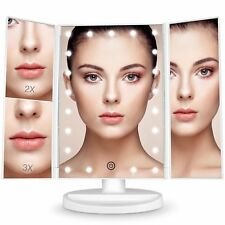BESTOPE Espejo maquillaje Espejo con luz regalos iluminado 21 LED Espejo de vani