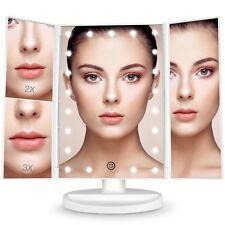 Espejo maquillaje con luz regalo de San Valentín Bestope 21 LEDs