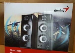 Genius SP-HF1800A 50 w 2.0 Three-way hi-fi wood speakers