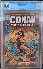 CONAN THE BARBARIAN #1 (1970) CGC 8.0 🔥 KILLER KEY 🔑 MUST HAVE!! Beautiful 🔥