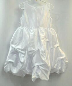 Joy Kids Formal Tank Dress White pull up Flower Girl communion gown Girls 4 NEW