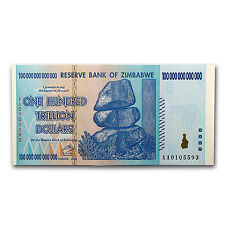 2008 Zimbabwe 100 Trillion Dollars Waterfall Buffalo Unc - SKU #51560