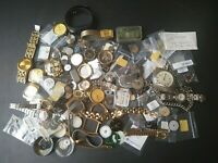 Vintage Watch Part Lot Mixed Makes & Watch Small Watch Parts Cases Miscellaneous