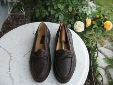 ZELLI NEW! CROCODILE HAND CRAFTED DORAL MOCCASIN LOAFER SHOES SIZE:11.5 W $895