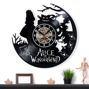 Alice In Wonderland Vinyl Record Wall Clock Gift Surprise Ideas Friends Birthday