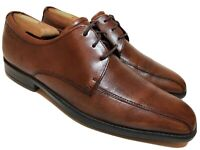 ECCO Mens 9 Brown Leather Oxfords Dress Casual Shoes Comfort Bicycle Toe