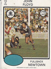 Scanlens 1975 Rugby League Trading Card John Floyd Newtown