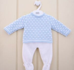 Pex Reed Spanish Knit baby boys outfit 2pc Suit - NB to 6-9mths