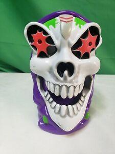 "2 Pack Monster Jam Grave Digger 6"" Green Plastic Grim Reaper Light Up Cup Mugs"