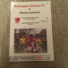 BEDLINGTON TERRIERS  v BISHOP AUCKLAND  NORTHERN LEAGUE 2008 - 09