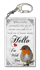 Robin Sympathy Loved One In Heaven Small Plastic Keyring Keychain Bag Charm