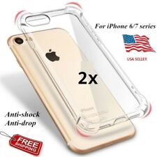 Shockproof Soft TPU Kickstand Clear Case PC Slim Cover For iPhone and samsung
