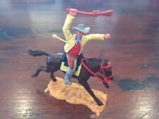 Timpo Cowboy Mounted - Shot By Arrow/ Cream & Red - Wild West - 1970's
