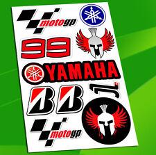 Set 10 Stickers Vinyl Car Auto Moto GP Moto Sport Jorge Lorenzo 99 Yamaha D 1