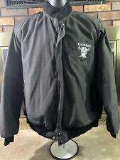 Vintage Sin City Las Vegas Oakland Raiders NFL Football Jacket Mens Size Large