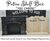 "Target Bullseye's Playground Halloween Potion Box Shelf ""YOU CHOOSE"" NEW '20"