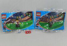 LEGO Coca Cola Japan Soccer 4449 Defender & 4453 Goal Keeper Set NEW Polybags