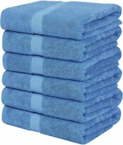 Pack of 4 Bath Towels Set 27 x 55 Inches Cotton Soft 600 GSM