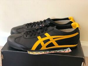 asics onitsuka tiger mexico 66 black yellow uruguay queda