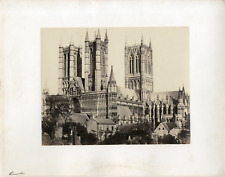 Angleterre, Londres, abbaye de Westminster, vue d'ensemble  Vintage albumen