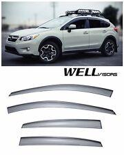 For 13-UP Subaru XV WellVisors Side Window Visors W/ Black Trim