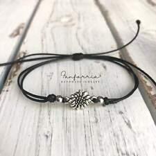 Sunflower Black Bracelet Anklet Waterproof