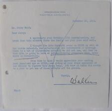 Walter H.Annenberg signed letter/1953