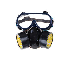 Emergency Survival Safety Respiratory Gas Mask 2 Dual Protection Filter&GlasRSBD