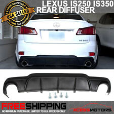 Fit 06-13 Lexus IS250 IS350 4Dr Mr Style Rear Diffuser Bumper Lip