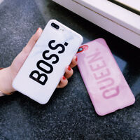 Phone Case Cover For iPhone X 8 7 6 Plus/6s Plus BOSS QUEEN Patterned Shockproof