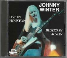 "Johnny Winter ""Live in Houston - Busted in Austin"" CD 1991 Magnum/UK - NEU/NEW"