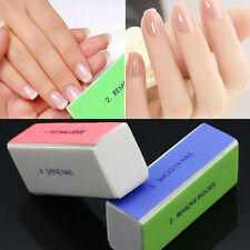 4Ways Nail Shiner Buffer Buffing Block Sanding File Remover Fingernail Art Tool