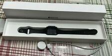 Apple Watch Series 1 38mm Aluminum Case Black Band Works Good!
