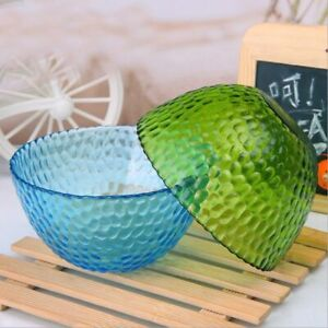 Simple Exquisite Glass Salad Kitchen Bowl Glittering Translucent Home Tableware