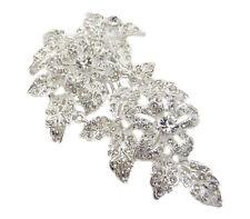 Anthony David Silver Metal & Crystal Floral Bridal Wedding Hair Comb