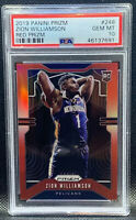 2019-20 Panini Prizm Zion Williamson RC RED Prizm /299 #248 PSA 10